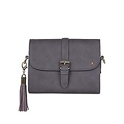 Yumi - Grey Cross Body Bag With Tassel