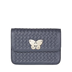 Yumi - Grey Faux Leather Butterfly Bag