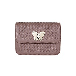 Yumi - Brown Faux Leather Butterfly Bag
