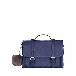 Yumi - Blue Pom Pom Satchel Bag