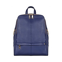 Yumi - Blue Faux Leather Backpack