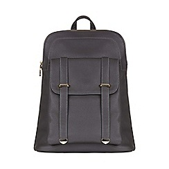Yumi - Grey Leather Look Backpack