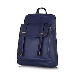 Yumi - Navy front pocket strap backpack