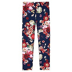 Yumi Girl - blue Floral Printed Leggings