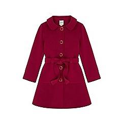 Yumi Girl - purple Belted Peplum Button Coat