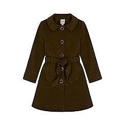 Yumi Girl - green Belted Peplum Button Coat