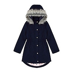 Yumi Girl - blue Butterfly Printed Parka