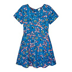 Yumi Girl - blue Japanese Printed Dress