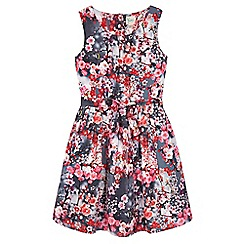 Yumi Girl - Grey Cherry Blossom Print Dress