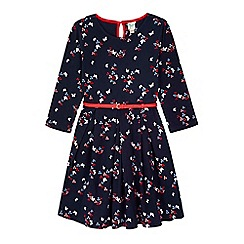 Yumi Girl - blue Printed Butterfly Dress