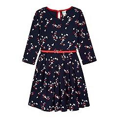 Yumi Girl - blue Printed Butterfly Dress