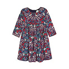 Yumi Girl - multicoloured  Woodland Printed Dress