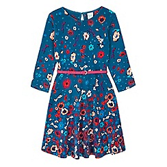 Yumi Girl - blue Printed Floral Dress