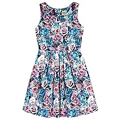 Yumi Girl - multicoloured  Floral Pleated Party Dress