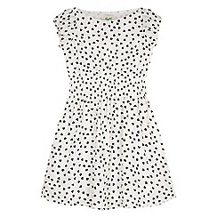 Yumi Girl - white Heart Print Floaty Dress
