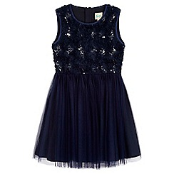 Yumi Girl - Blue Rose Sequined Prom Dress