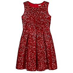 Yumi Girl - Red Sparkling Sequin Skater Dress