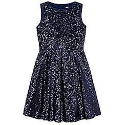 Yumi Girl - grey Sparkling Sequin Skater Dress