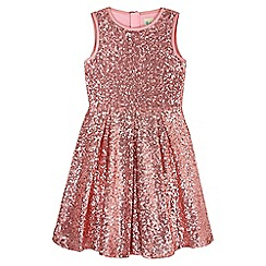 Yumi Girl - pink Floral Sequin Lace Party Dress