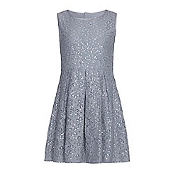 Yumi Girl - Grey Sequin Flower Party Dress
