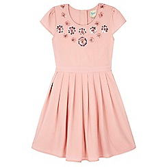Yumi Girl - pink Sparkle Flower Party Dress