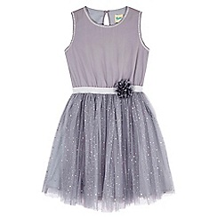 Yumi Girl - blue Flower Sequin Party Dress