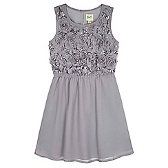 Yumi Girl - grey Sequin Floral Party Dress