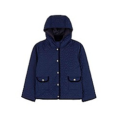 Yumi Girl - blue Heart Quilted Jacket