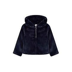 Yumi Girl - blue Hooded Furry Jacket