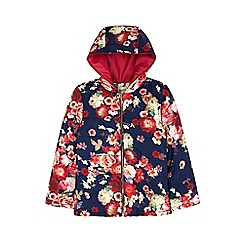 Yumi Girl - blue Floral Print Padded Jacket
