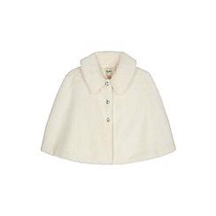 Yumi Girl - cream Faux Fur Bolero With Collar