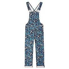 Yumi Girl - Multicoloured  Ditsy Print Butterfly Dungarees