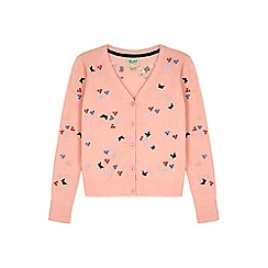 Yumi Girl - pink Embroidered Butterfly Cardigan