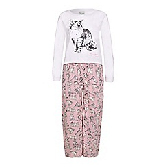 Yumi Girl - Pink Cat PJ Set