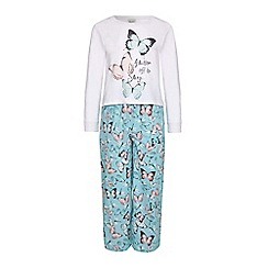 Yumi Girl - Blue Butterfly PJ Set