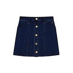 Yumi Girl - blue Buttoned Denim Mini Skirt