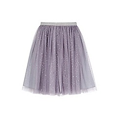 Yumi Girl - black Mesh Tutu Skirt With Sequins