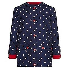 Yumi Girl - blue Spot Parka Jacket