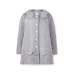 Yumi Girl - Girls' grey scallop trim coat