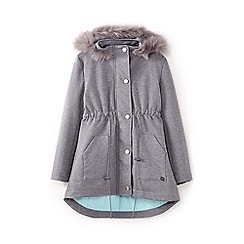 Yumi Girl - Grey faux fur parka