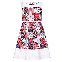 Yumi Girl - multicoloured Floral Patchwork Dress