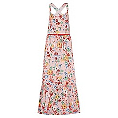Yumi Girl - multicoloured Tropical Strappy Maxi Dress