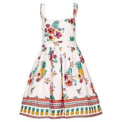 Yumi Girl - multicoloured Floral Pineapple Sun Dress