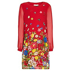 Yumi Girl - red Floral Party Dress