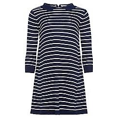 Yumi Girl - Blue stripe collared tunic