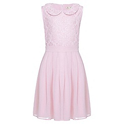 Yumi Girl - pink Sequin Collar Party Dress