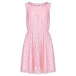 Yumi Girl - pink Lace Embellished Dress