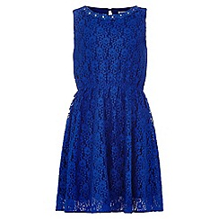 Yumi Girl - blue Lace Embellished Dress