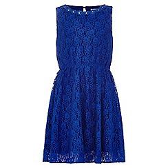 Yumi Girl - blue Lace Embellished Dress