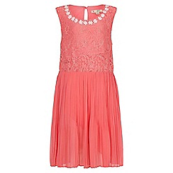 Yumi Girl - orange Pearl Flower Lace Dress